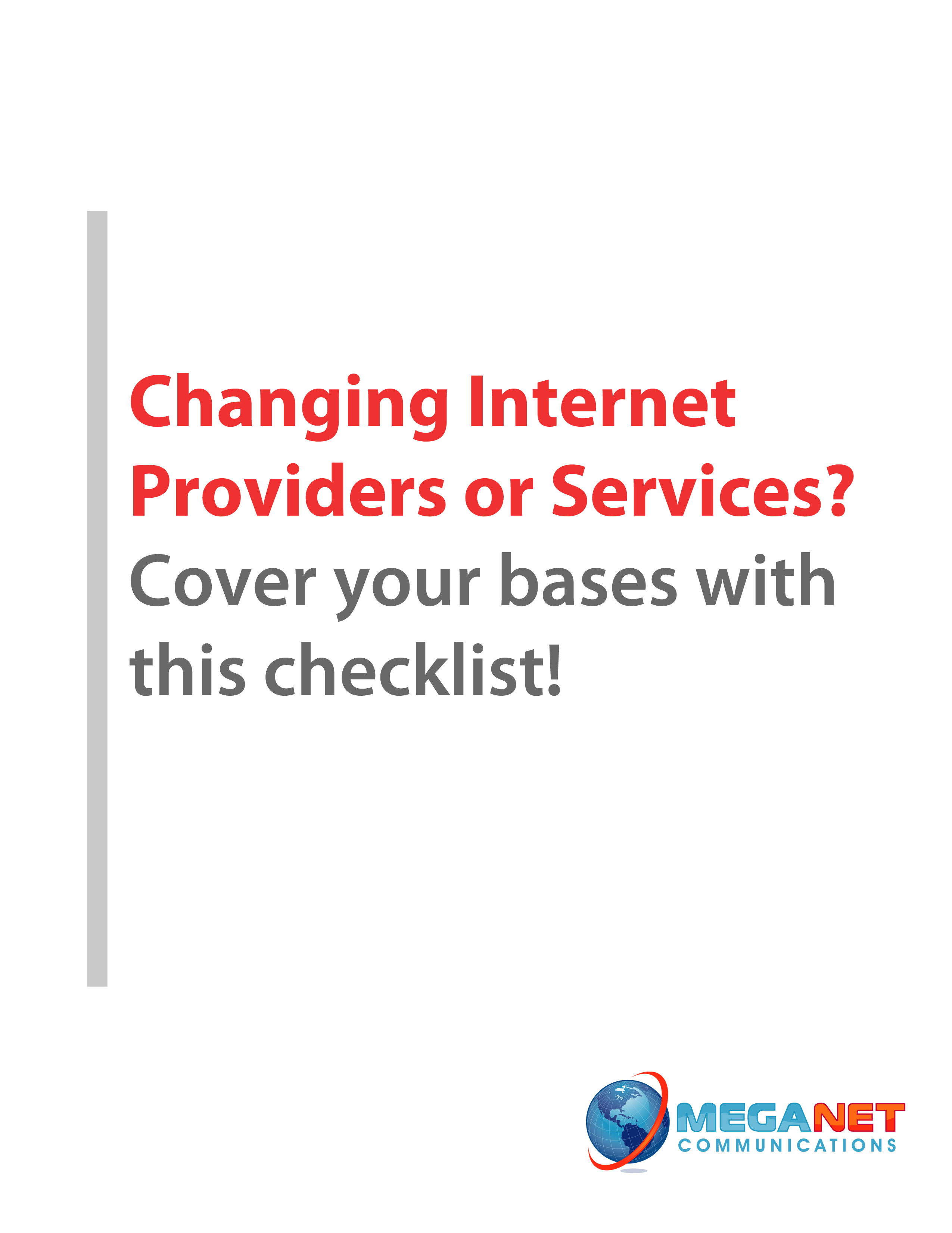 Free Internet Service Provider Change Checklist Meganet Communications